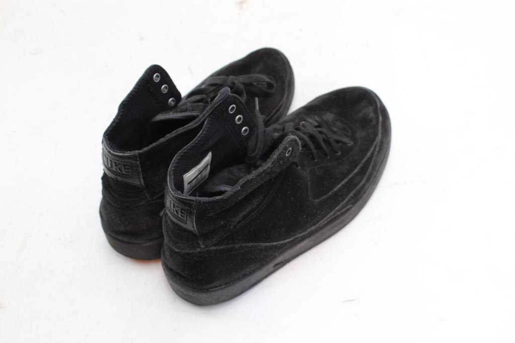 d0c2c8e7faea27 Nike Air Jordan 2 Retro Decon Triple Black Suede Mens Shoes ...