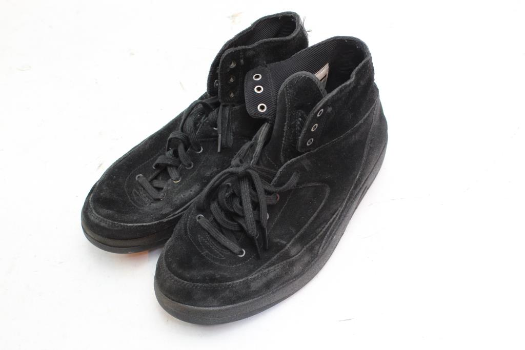 d82e3bba7cd741 Nike Air Jordan 2 Retro Decon Triple Black Suede Mens Shoes ...