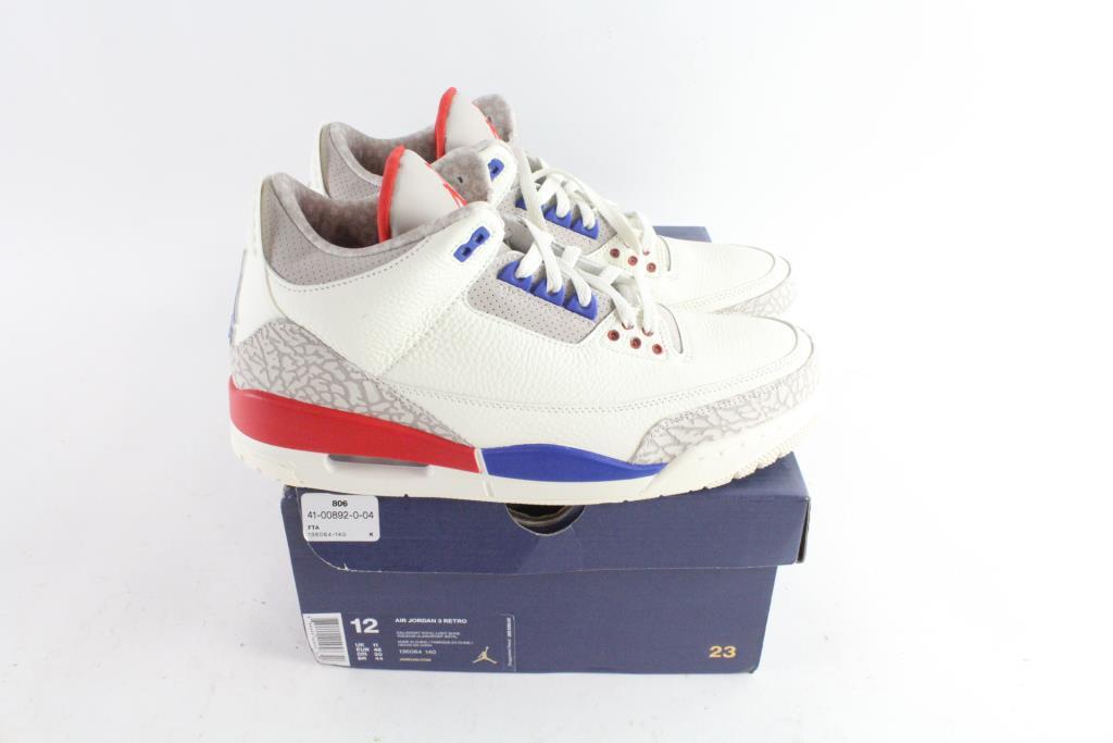 the best attitude f74d8 956db Nike Air Jordan 3 Retro Mens Shoes, Size 12 | Property Room