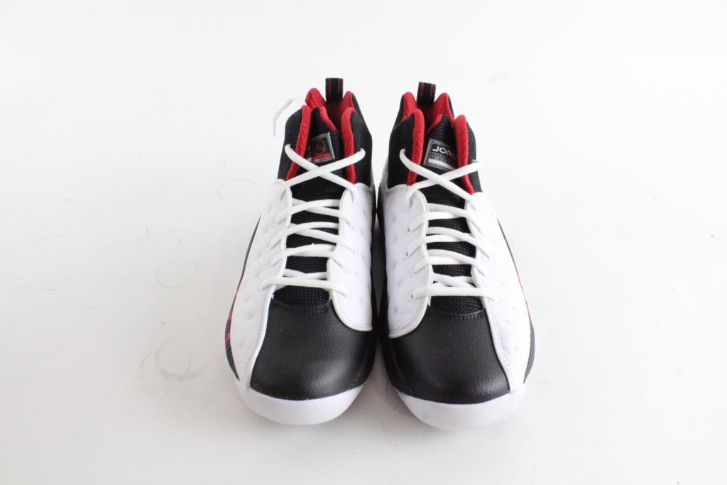 online store 2af6c 1ba43 ... aliexpress nike air jordan jumpman team ii shoes white black red mens  size 8.5 37db6 03a12