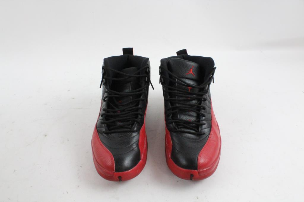 competitive price e24f9 e0998 Nike Air Jordan XII Retro 12 Flu Game, Black Varsity Red, Mens Size 10