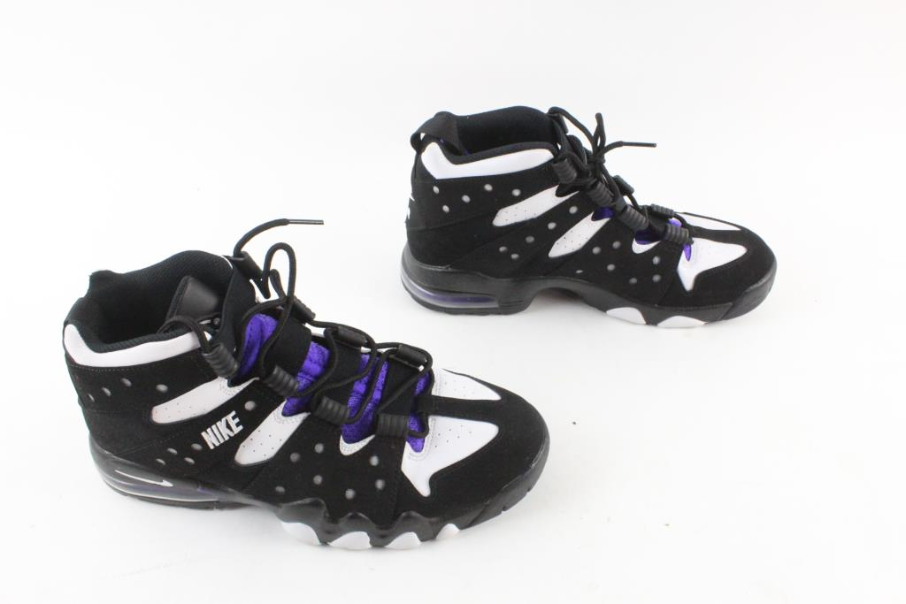 best website 24329 e766a ... clearance nike air max 2 charles barkley shoes purple black and white  mens size 11 1b187