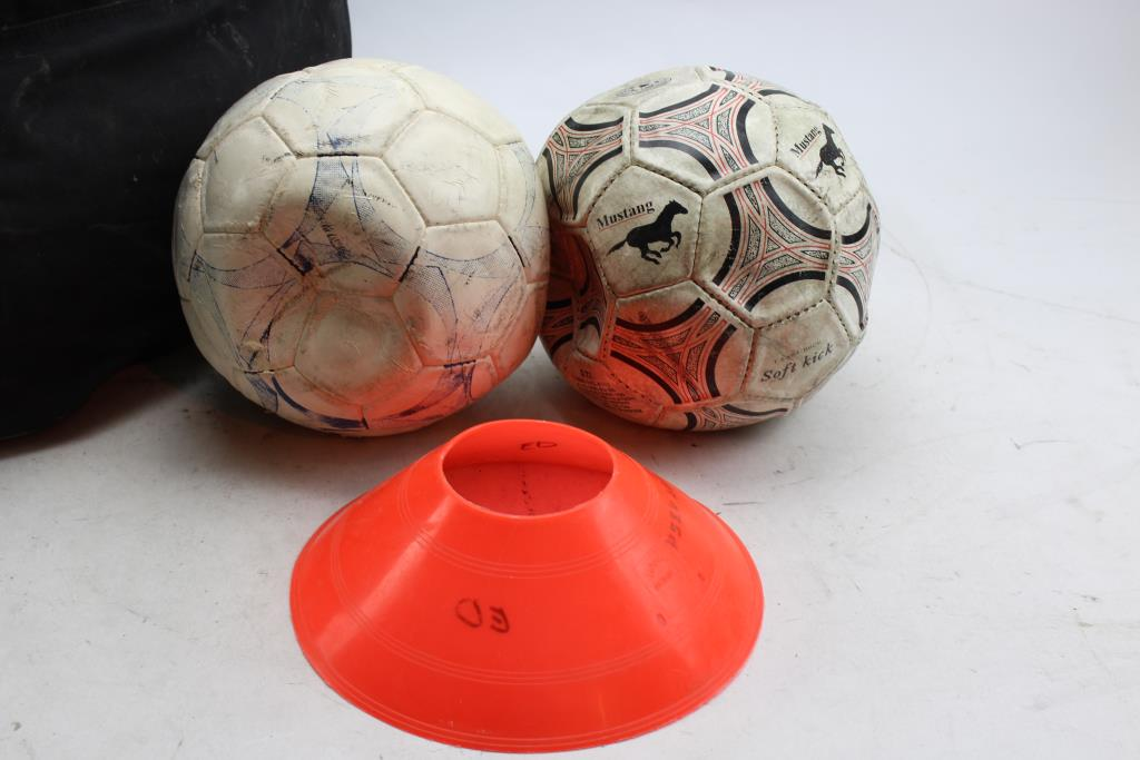 Nike Ball Bag Soccer Balls Flat Cones 30 Pieces