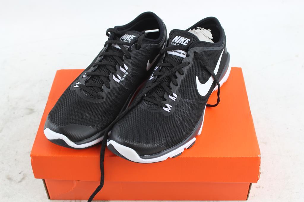 sale retailer 33e3a 15a63 Nike Flex Supreme TR 4 Womens Training Shoes, Black ...
