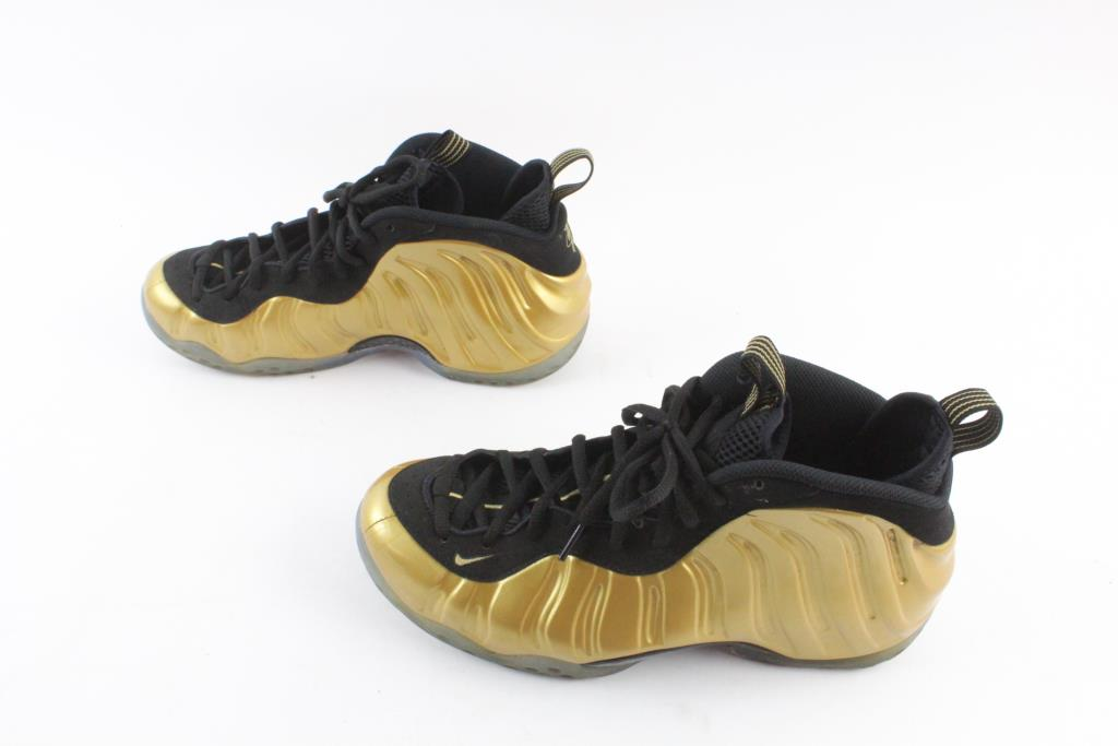 Nike Foamposite One Quot Metallic Gold Quot Shoes Gold And Black