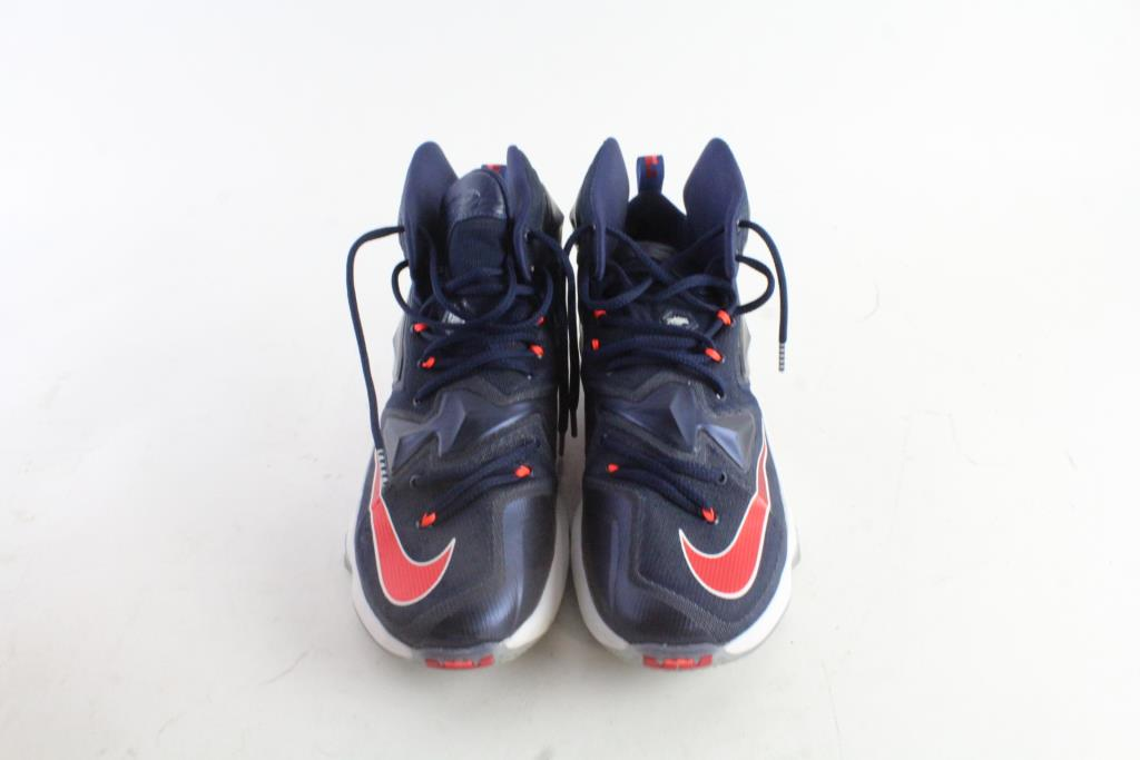 Nike Lebron James Xiii Usa Shoes Blue Red White Mens Size 10 Property Room