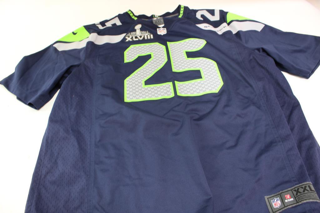 info for 216f0 4124e Nike Seattle Seahawks Sherman 25 Jersey, Size XXL | Property ...