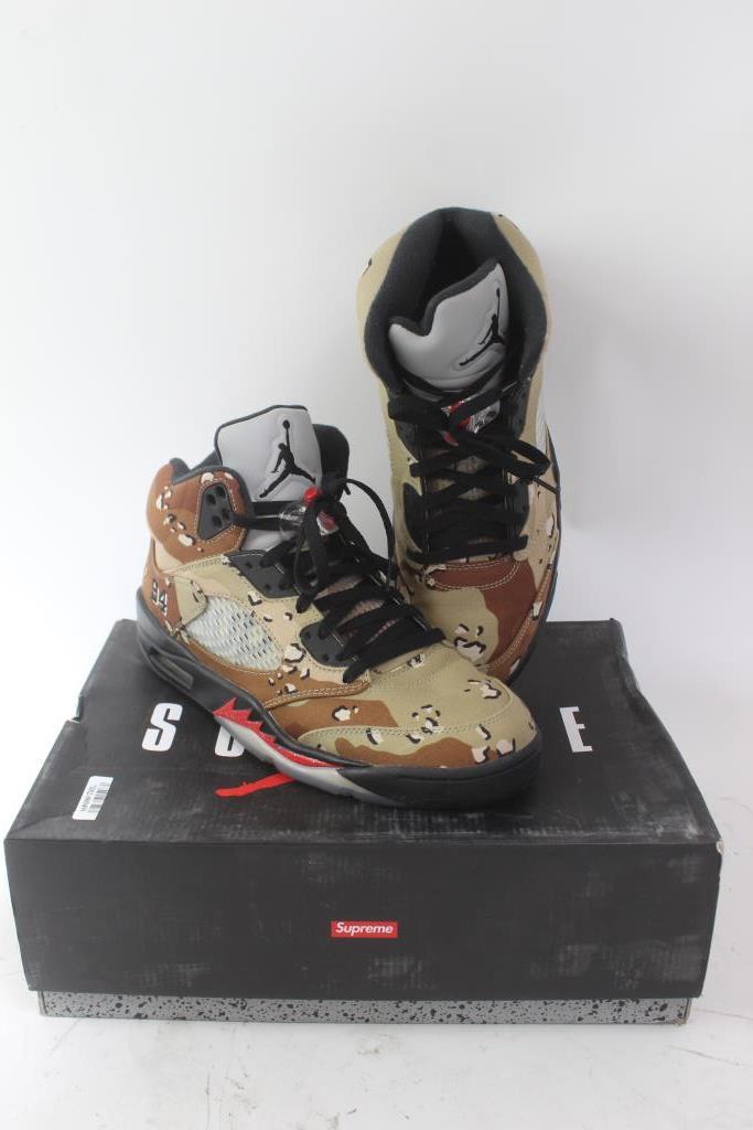 finest selection c612b 57751 Nike X Supreme Mens Air Jordan 5 Retro Shoes; Size 10 ...