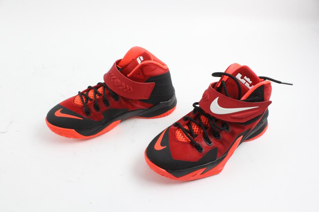 Nike Zoom Lebron James Soldier 8 Gs Shoes Red And Black