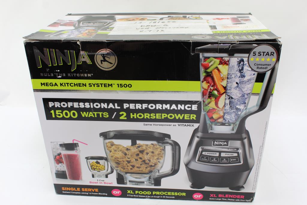 Ninja Mega Kitchen System 1500 Blender/food Processor ...