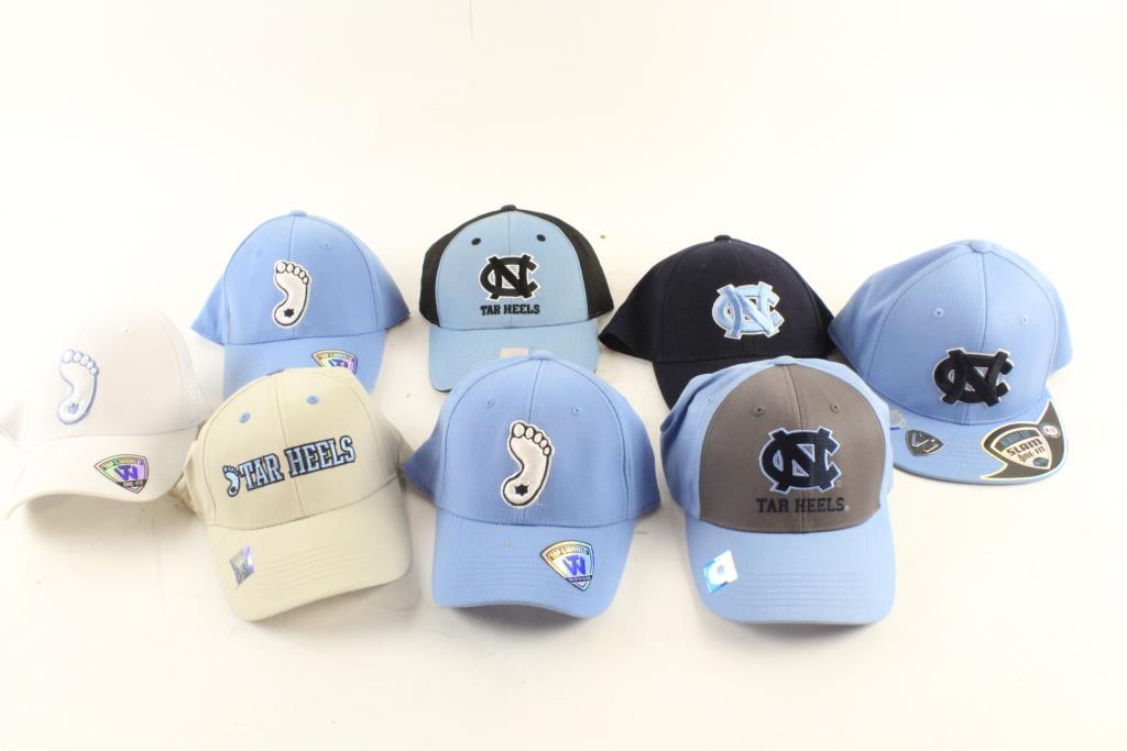 81f03f96 North Carolina Tar Heels Hats, 8 Pieces | Property Room
