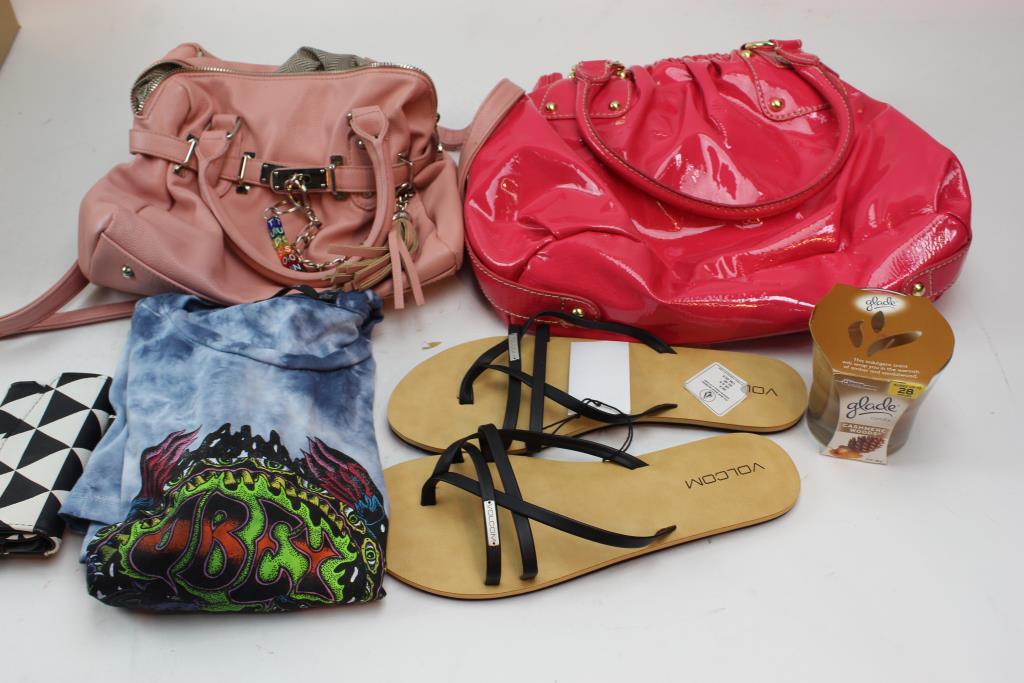 Obey Volcom And More Clothing Handbagore 5 Pieces