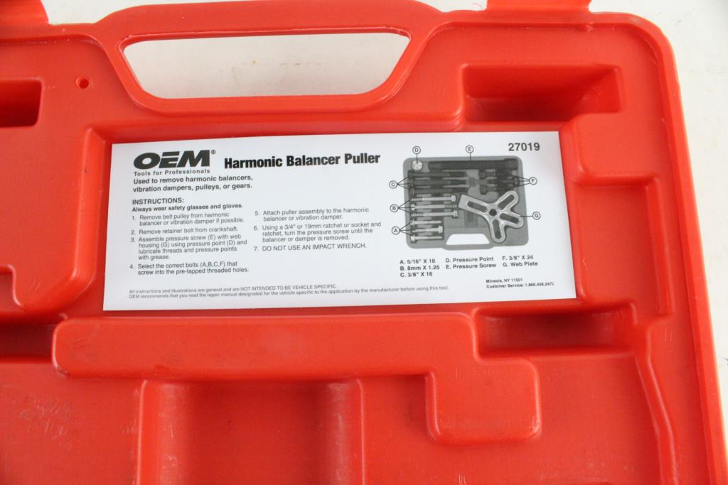 Oem Harmonic Balancer Puller Kit Property Room