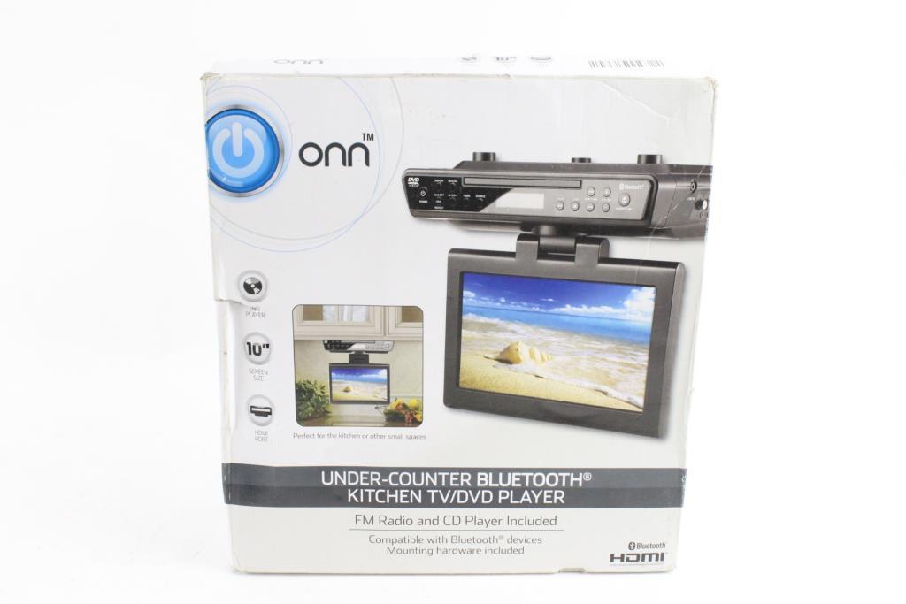 onn under counter bluetooth kitchen tv dvd player property room