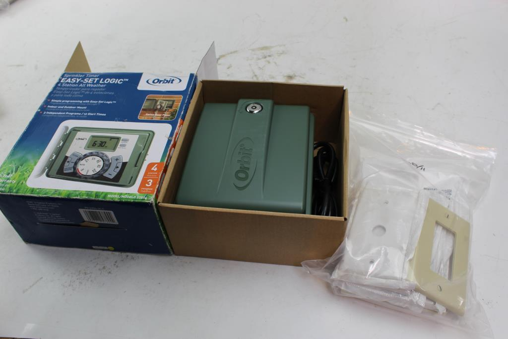 Orbit Sprinkler Timer And Leviton Wall Plates 10 Pieces