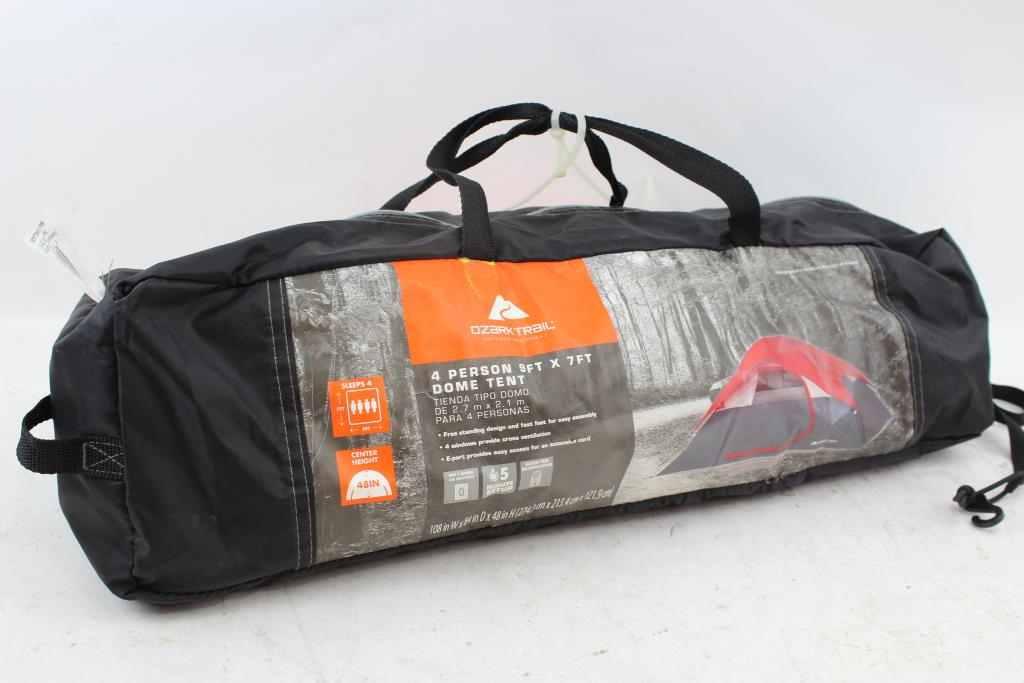 Ozark Trail 4 Person 9'x7' Dome Tent   Property Room
