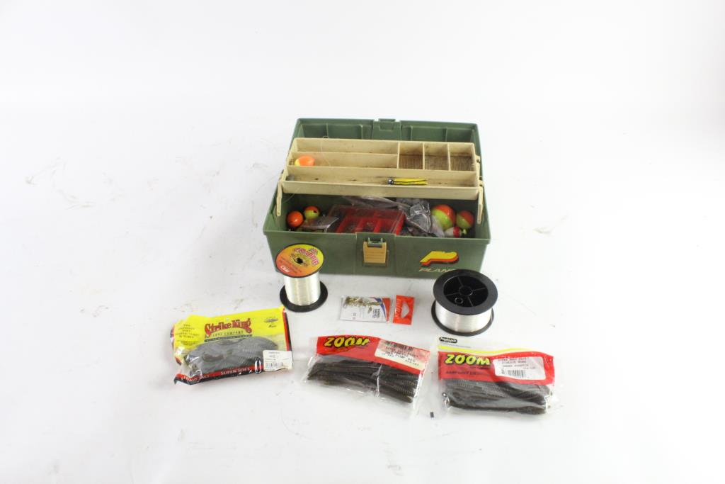 Plano Tackle Box With Fishing Supplies, 15+ Pieces