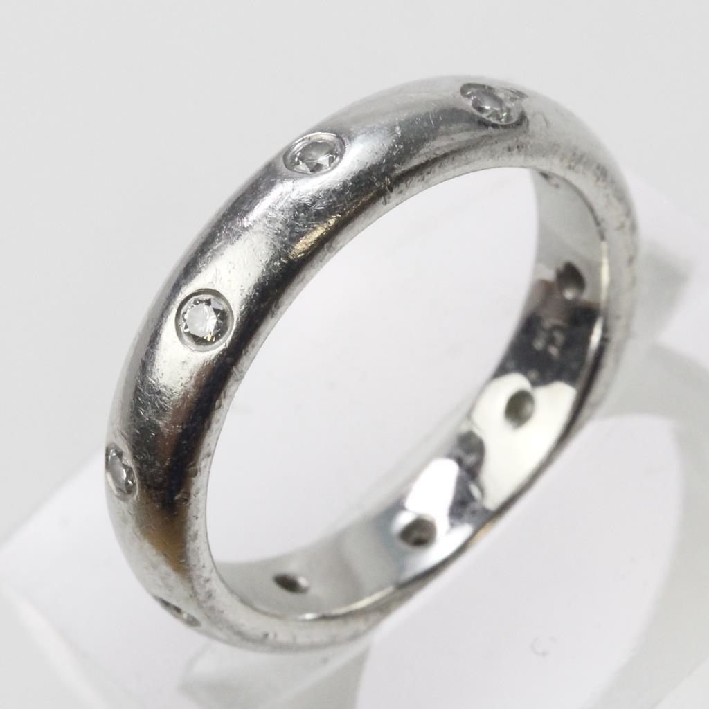 264ad4453405 Image 1 of 5. Platinum 7.9g Diamond Tiffany   Co. Etoile Band Ring