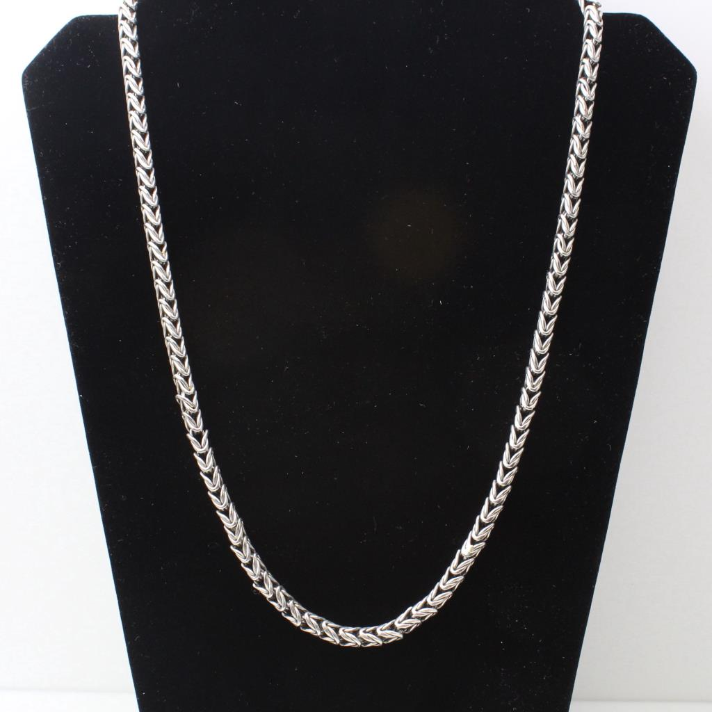 platinum 986g wheat chain necklace property room