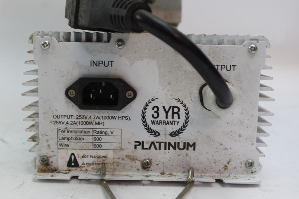 platinum ballast with reflector model hps/mh 1000w-tg
