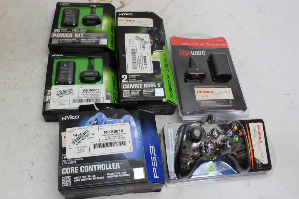Playstation 3 Controller, XBox 360 Battery Packs, Charger