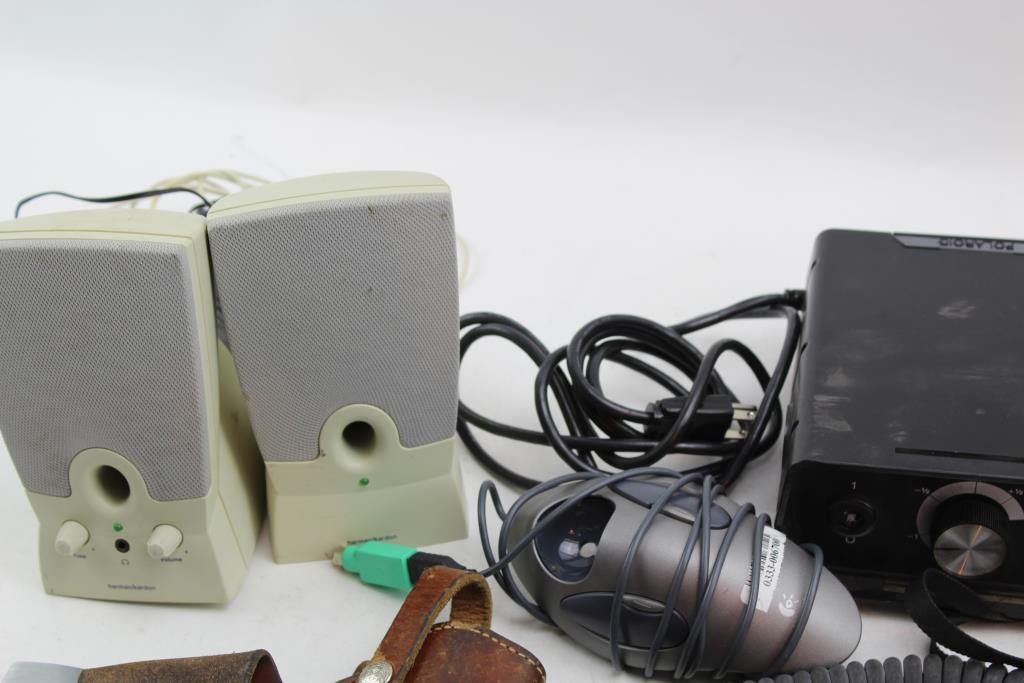 polaroid slide camera oil filter gun holster computer speakers