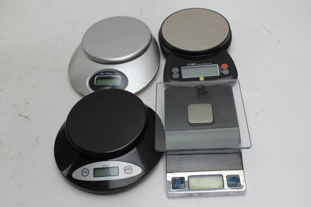 Portable Scales Sharper Image Cj And More 4 Items Property Room