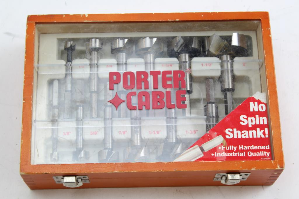 Porter Cable No Spin Shank Drill Bit Set Property Room