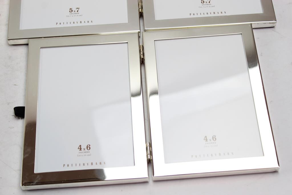 Pottery Barn Folding Picture Frames 2 Pieces Property Room