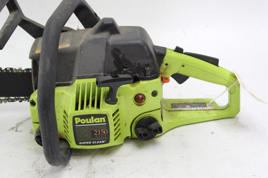 Poulan 2150 2 1 Cl Chainsaw Property Room