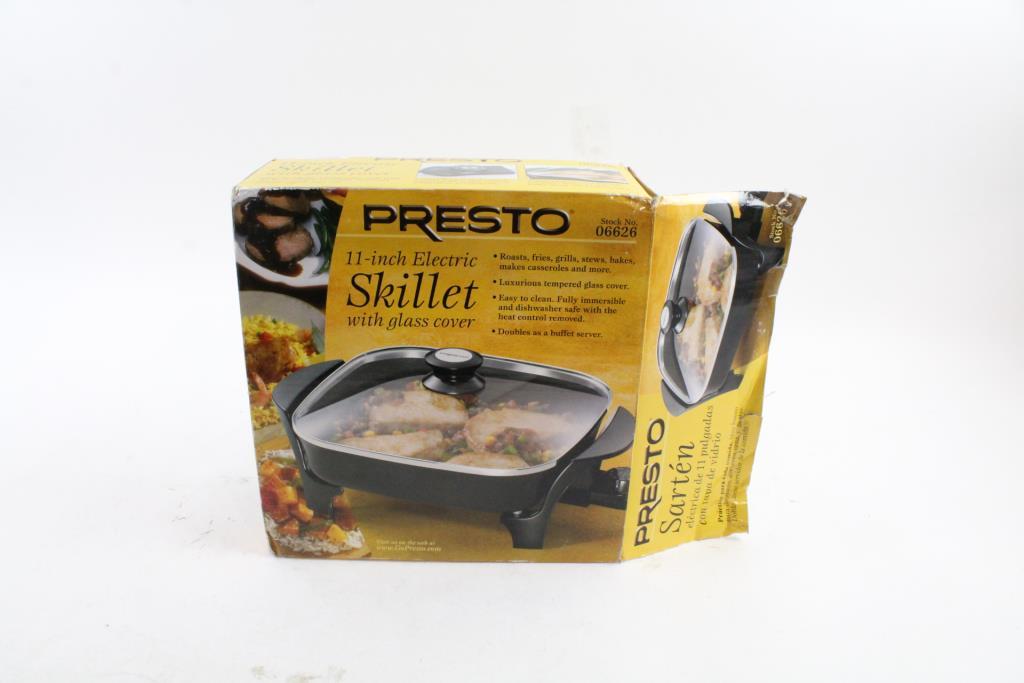 Presto 06626 11 inch Electric Skillet w//glass lid