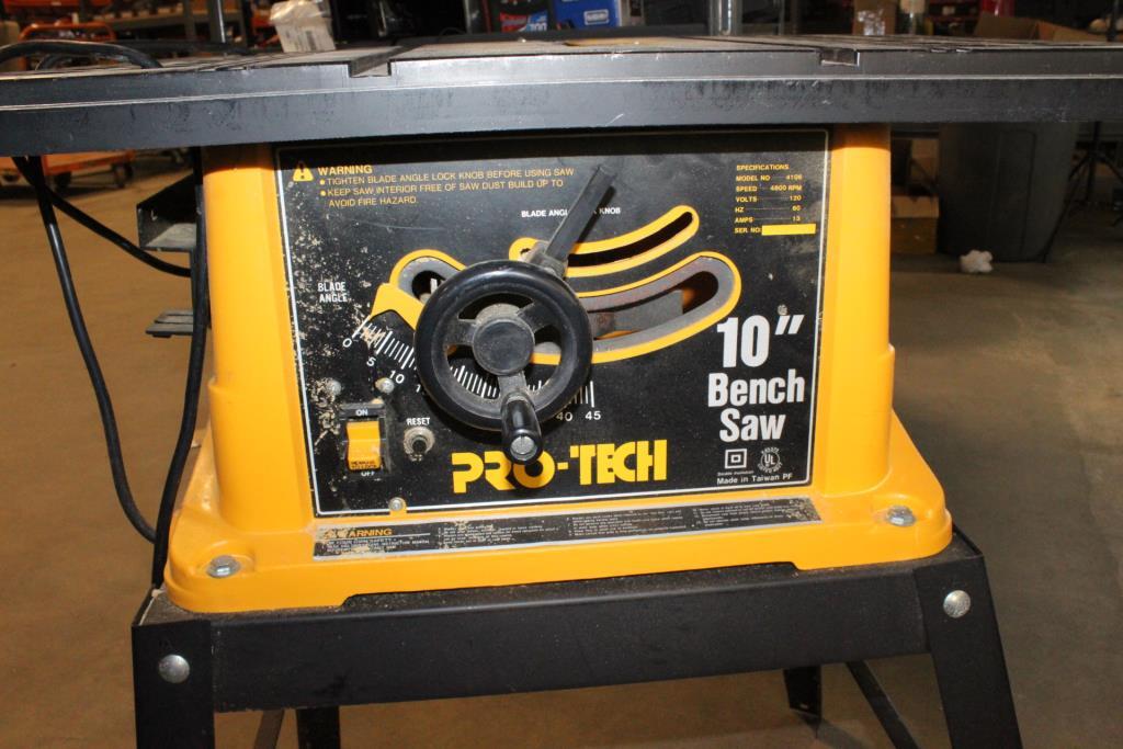 Surprising Pro Tech 10 Bench Saw Property Room Machost Co Dining Chair Design Ideas Machostcouk