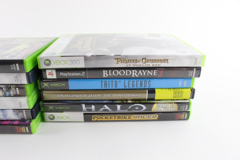 PS2, Xbox, Xbox 360 Games, 12 Pieces | Property Room