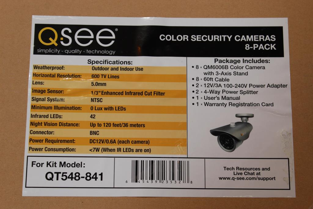 Qsee 8 Channel DVR Security System | Property Room