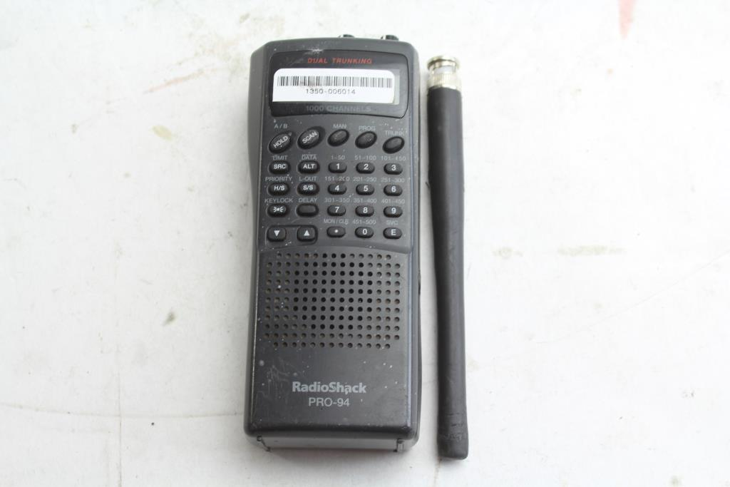 Radio Shack Pro-94 Dual Trunking 1000 Channels Scanner