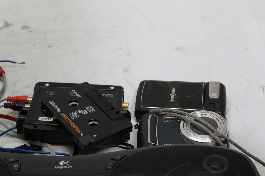 42edd6de145 Radioshack Electric Subwoofer Crossover, Logitech Bluetooth Speaker And  More, 9 Pieces