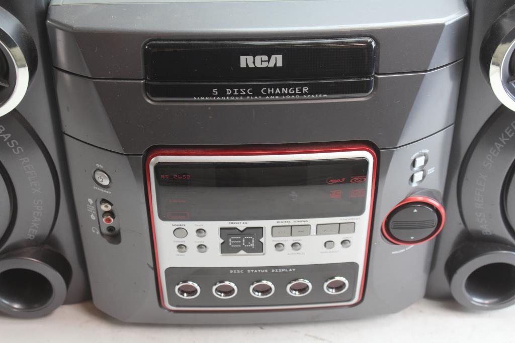 Rca Rs2652 5 Disc Changer Stereo Property Room
