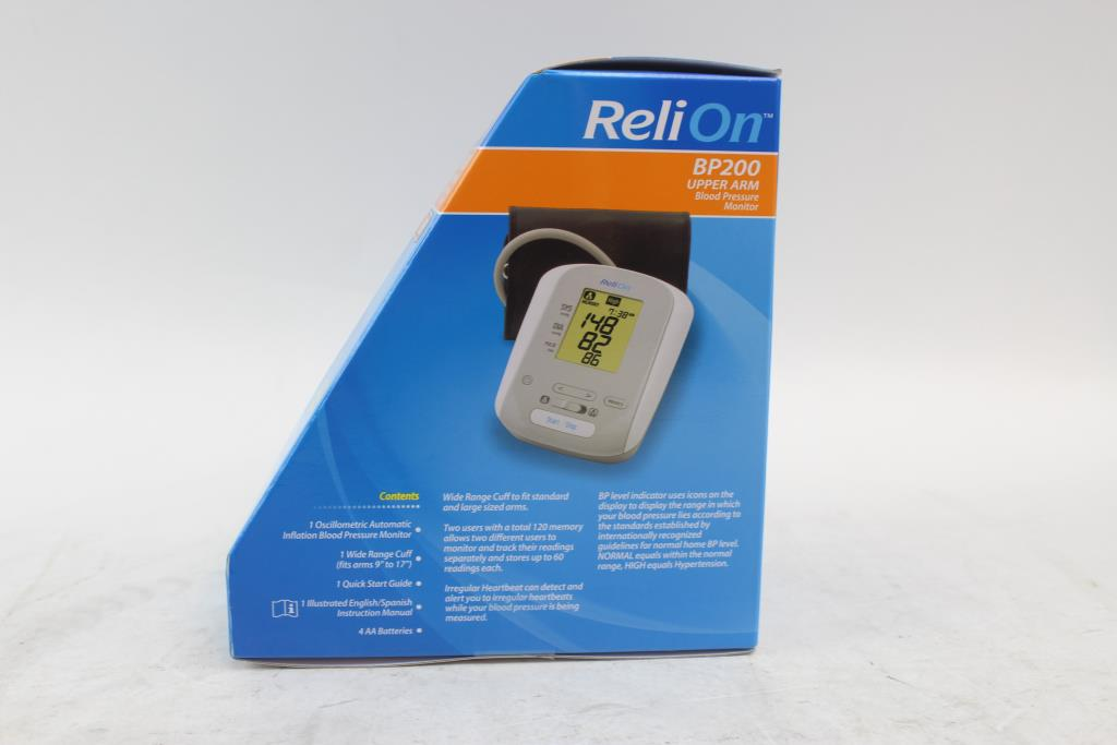 Relion Upper Arm Blood Pressure Monitor Property Room