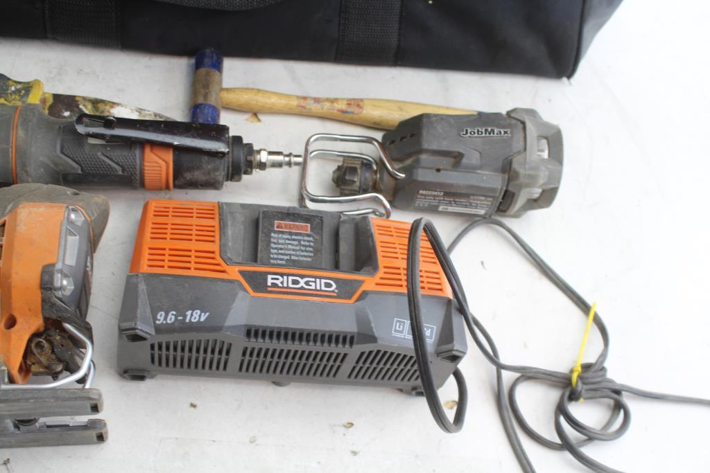 Ridgid JobMax Power Tools In Ridgid Tool Bag, 5+ Pieces
