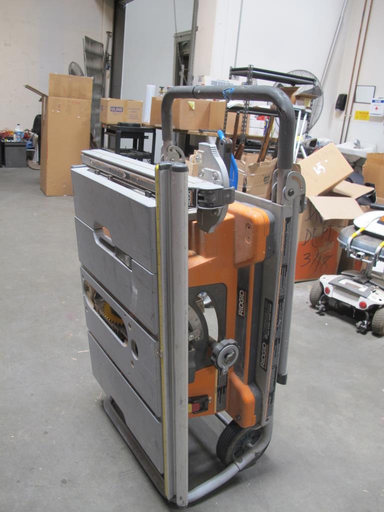 Image 1 Of 4 Ridgid Portable Tablesaw Model Ts2400
