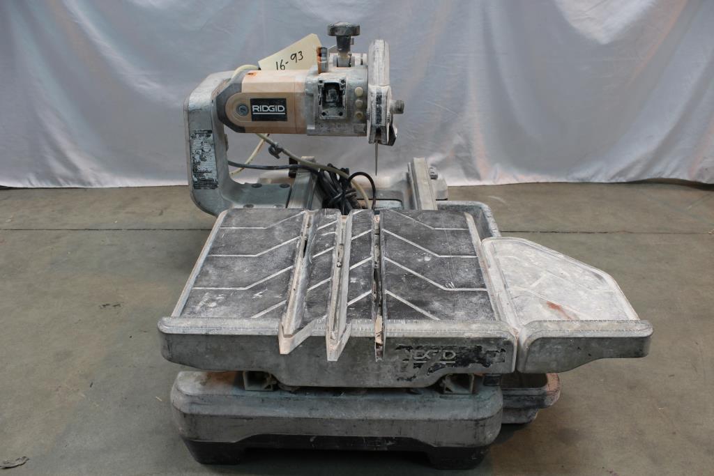 Ridgid Wts2000l Tile Wet Saw Property Room
