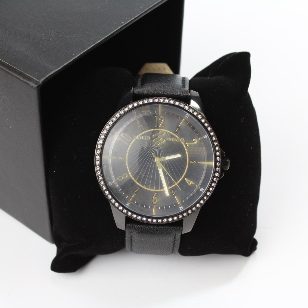 Rocawear Watch With Black Leather Band Property Room