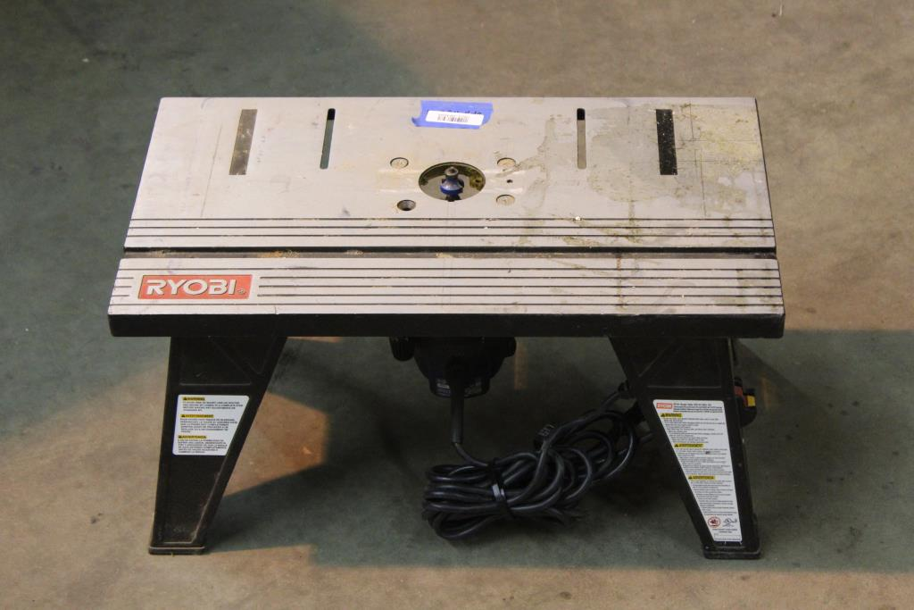 Ryobi R163 Router And Ryobi Rt101 Router Table Property Room