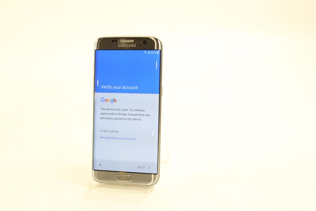 Samsung Galaxy S7 Edge, Google Locked, Sold For Parts