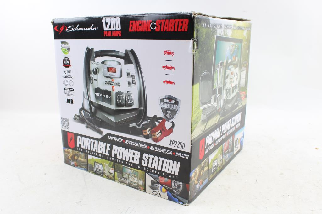 Schumacher XP2260 Portable Power Station And Air Compressor