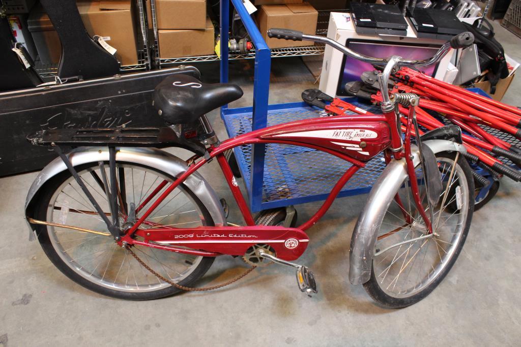 Schwinn Fat Tire Amber Ale Beach Cruiser Bike | Property Room