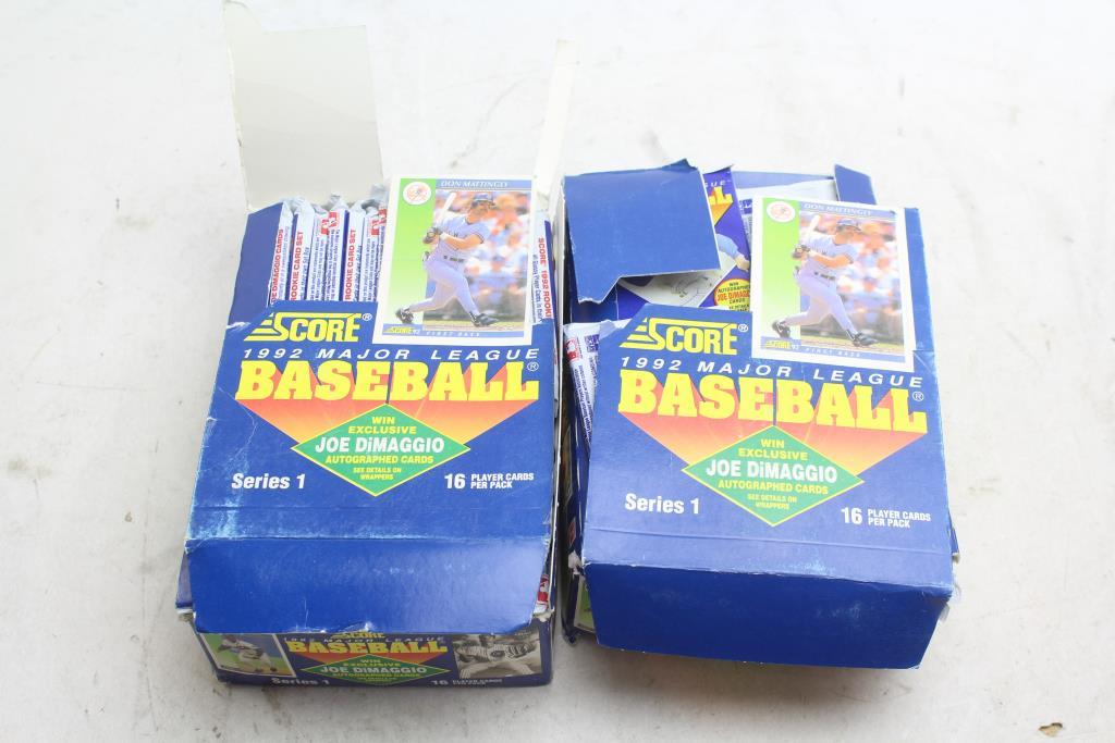 Score 1992 Major League Baseball Cards 50 Pieces Property Room
