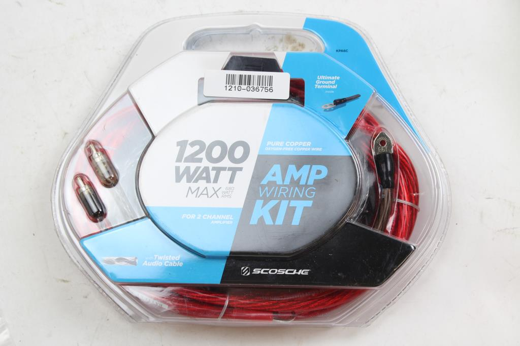 Scosche KPA6 1200 WATT 6 Gauge Wiring Kit | Property Room