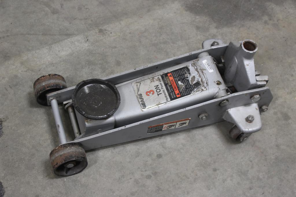 Sears 875 501153 3 Ton Hydraulic Floor Jack Property Room