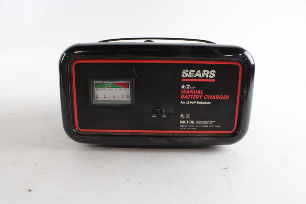 sears manual battery charger property room rh propertyroom com sears 10/2 manual battery charger sears 10/2 amp manual battery charger